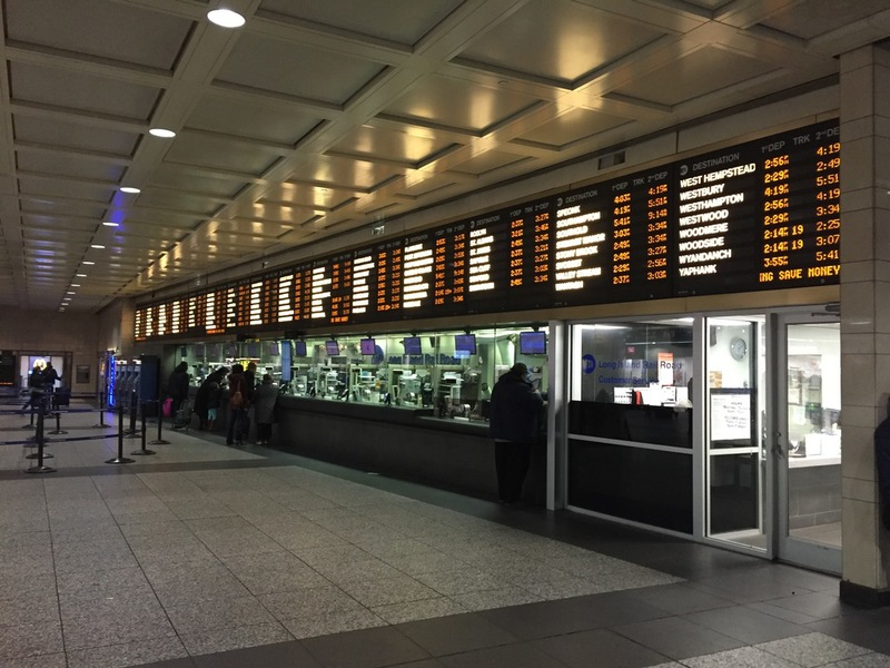 Ticket counters of the LIRR in Pennsylvania Station - Credit: Antony-22