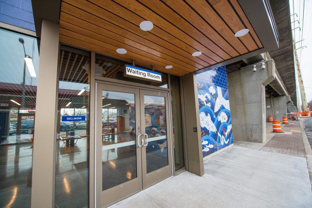New Northside Entrance to Bellmore Station - 01-29-19