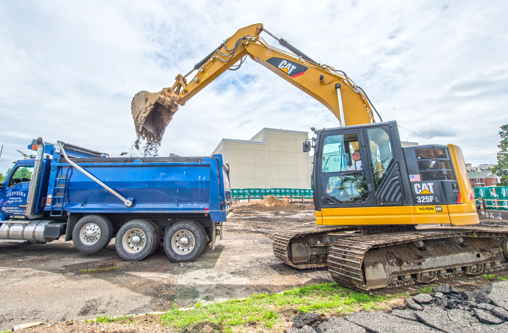 Excavation Begins at Westbury North Parking Structure - 07-03-19