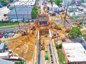 Urban Avenue Grade Crossing Elimination – Excavation prior to bridge roll-in - 07-20-19