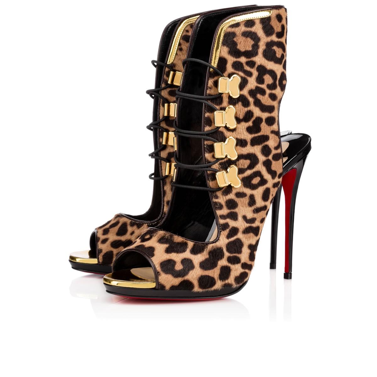 replica men - christian louboutin leopard print ponyhair sandals | cosmetics ...