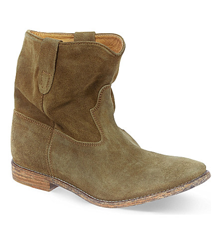 Crisi suede concealed wedge ankle boots