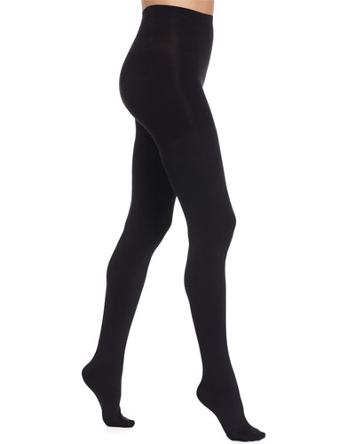 Luxe Blackout Opaque Tights, Very Black