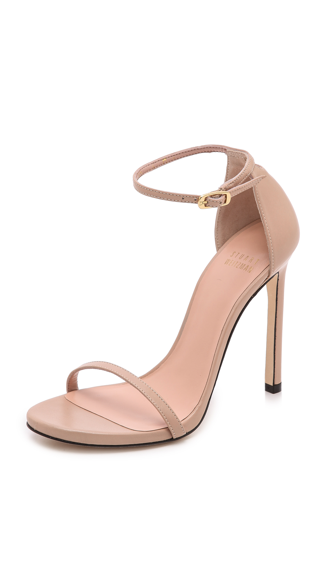 'Nudist Song' ankle strap patent leather sandals