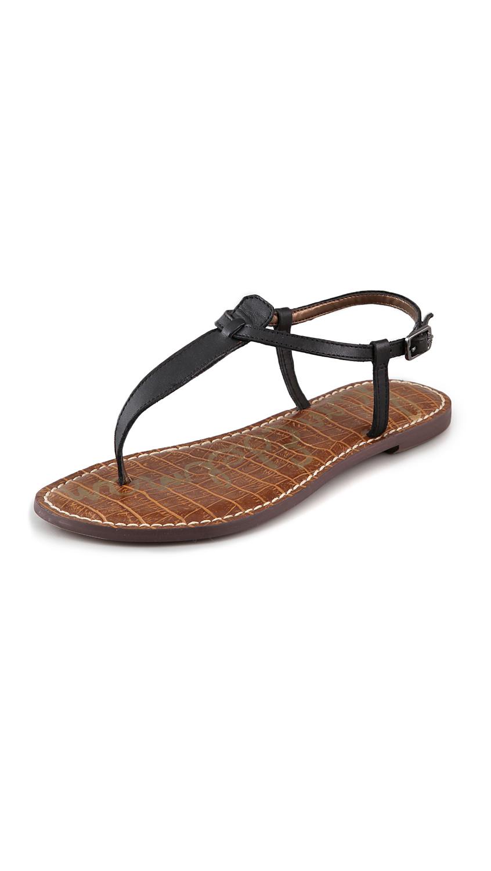 Gigi T Strap Flat Sandals