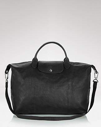 Le Pliage Large Leather Satchel