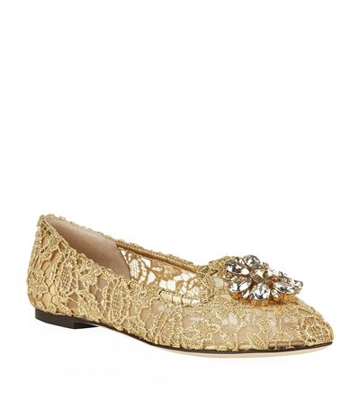Gianna Embellished Lace Slipper