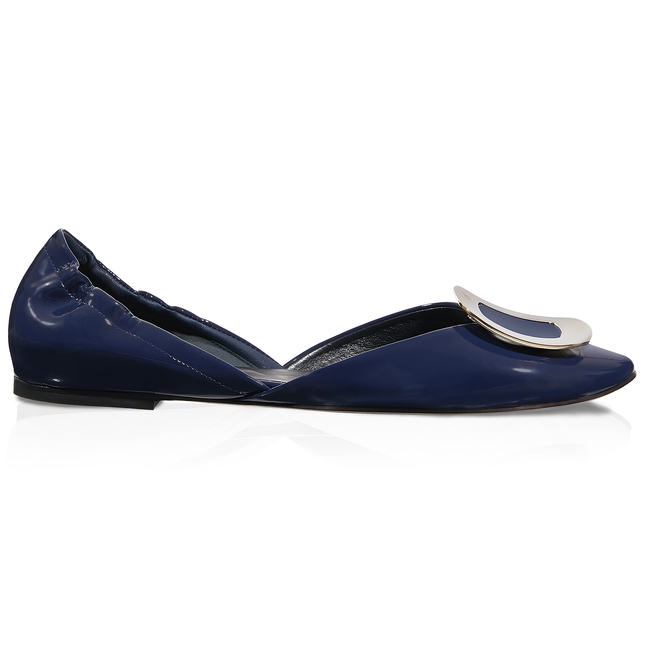 Dorsay Ballerinas in Patent Leather