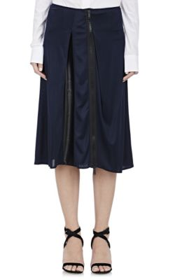 Fluid Zip-Front Skirt