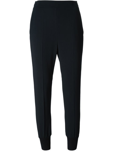 Julia stretch crepe-cady trousers