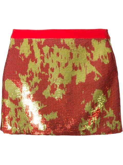 EMANUEL UNGARO sequinned mini skirt