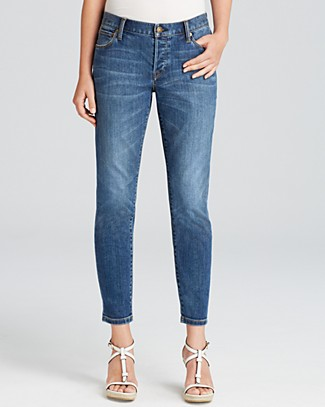Relaxed Skinny Jeans In Mid Indigo