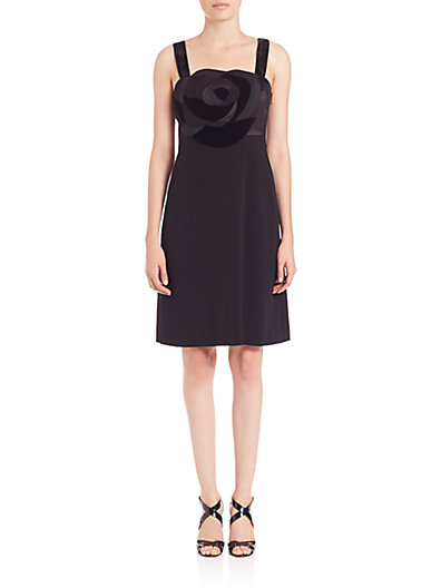 DVF Darling crêpe and velvet dress