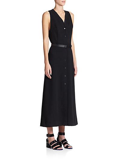 Belted Cloque Dress