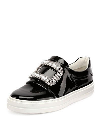 Sneaky Viv Embellished Patent Leather Skate Sneakers