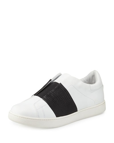 VISTA STRIPED LEATHER SNEAKER, PLASTER/BLACK, PLASTER/LGHT GREY