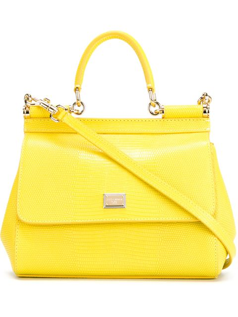 Small Miss Sicily Lizard-Embossed Leather Top-Handle Satchel