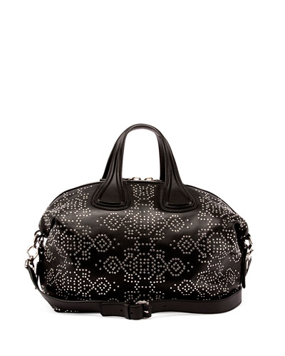 Black Calfskin Studded Small 'Nightingale' Convertible Tote'