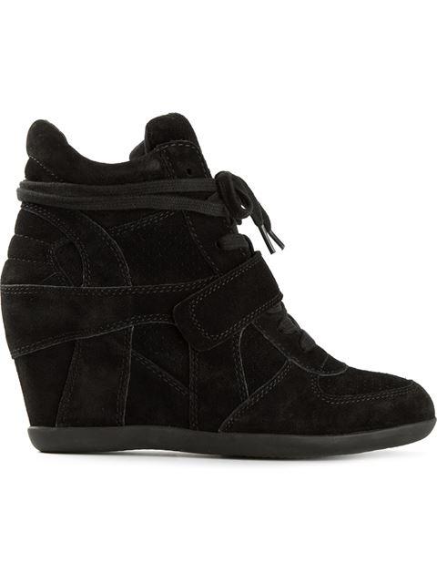 Bowie Suede High-Top Wedge Sneakers