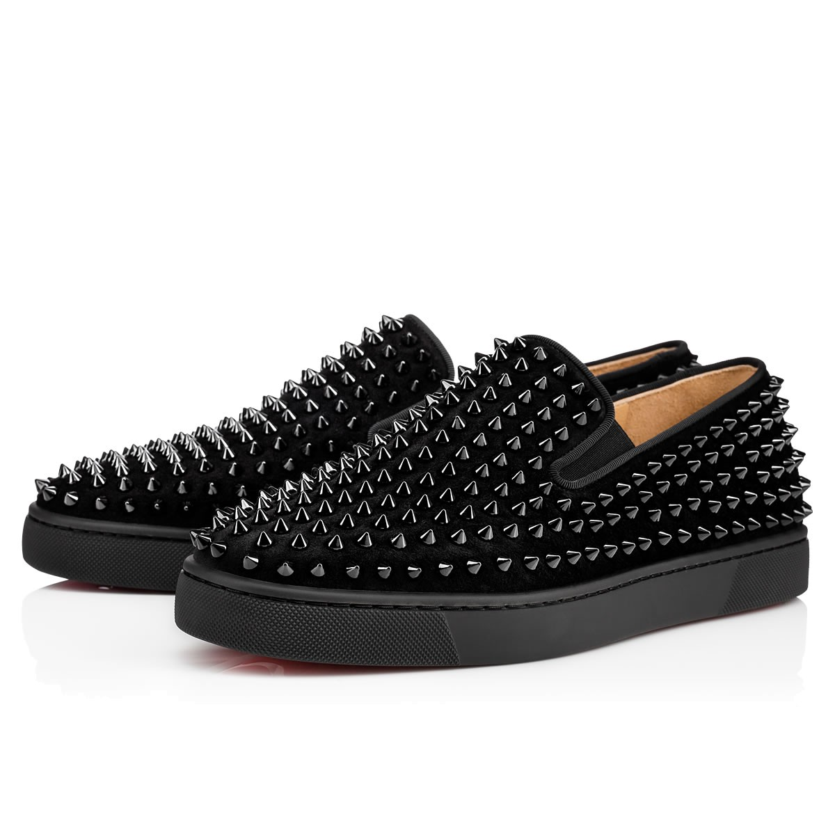 Christian Louboutin Spiked Slip-On Sneakers