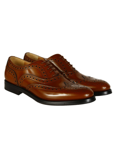 BURWOOD LEATHER DERBY SHOES