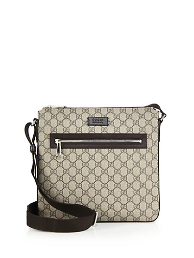 GG Supreme Canvas Flat Messenger Bag