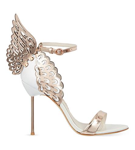 EVANGELINE ANGEL WING SANDALS, ROSE GOLD/WHITE