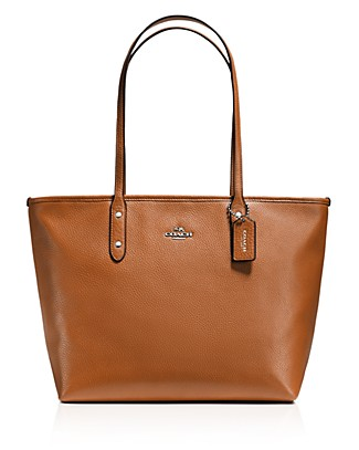 City Zip Tote In Chicago Pebble Leather
