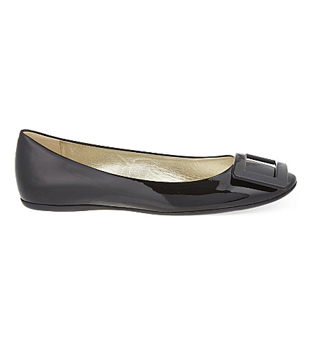 Gommette patent leather ballerina flats