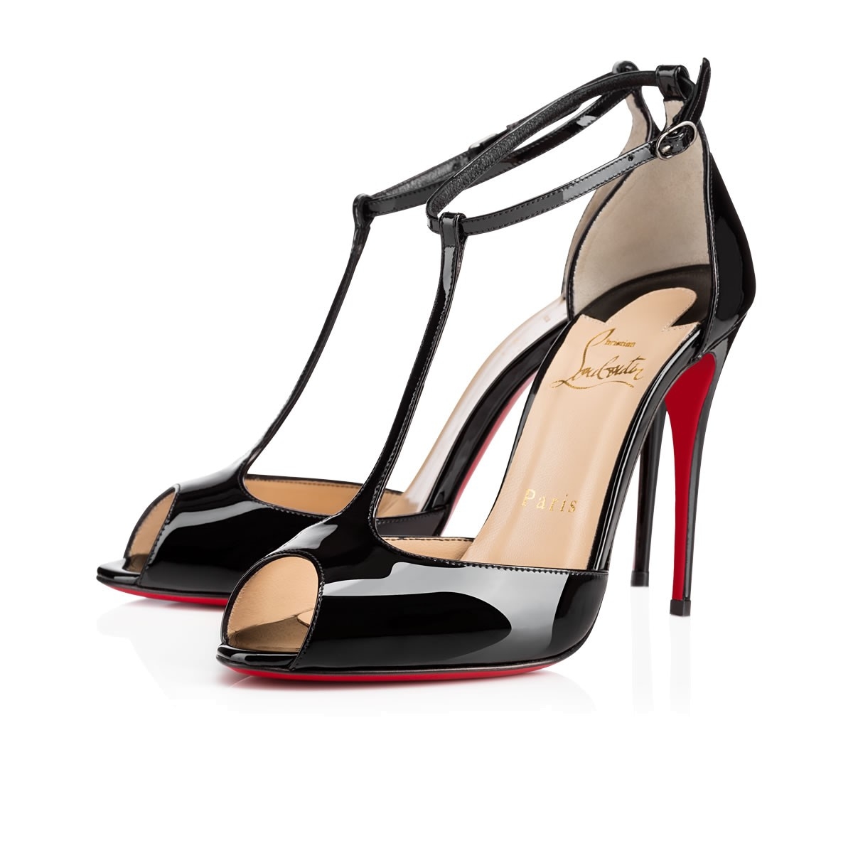 christian louboutin crossover sandals