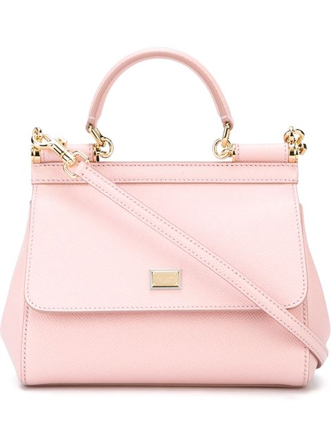 'SMALL MISS SICILY' LEATHER SATCHEL - PINK