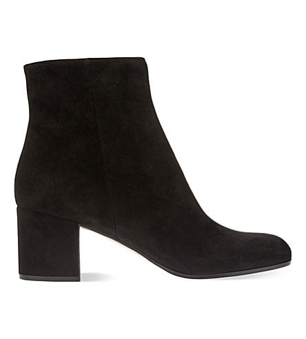 Free Shipping Low Shipping Gianvito Rossi Round-Toe Suede Ankle Boots Deals View Online Store Sale vxEO2