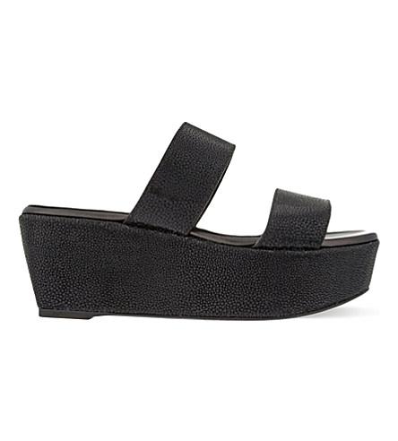 Frazuc leather flatform sandals