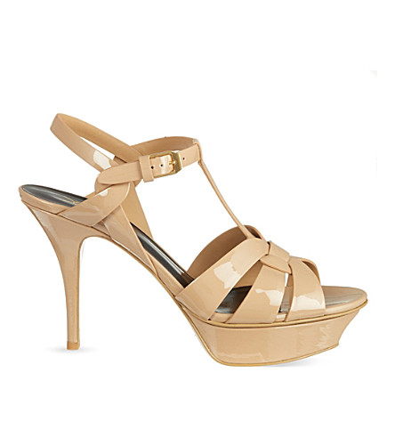 Tribute 75 patent-leather heeled sandals
