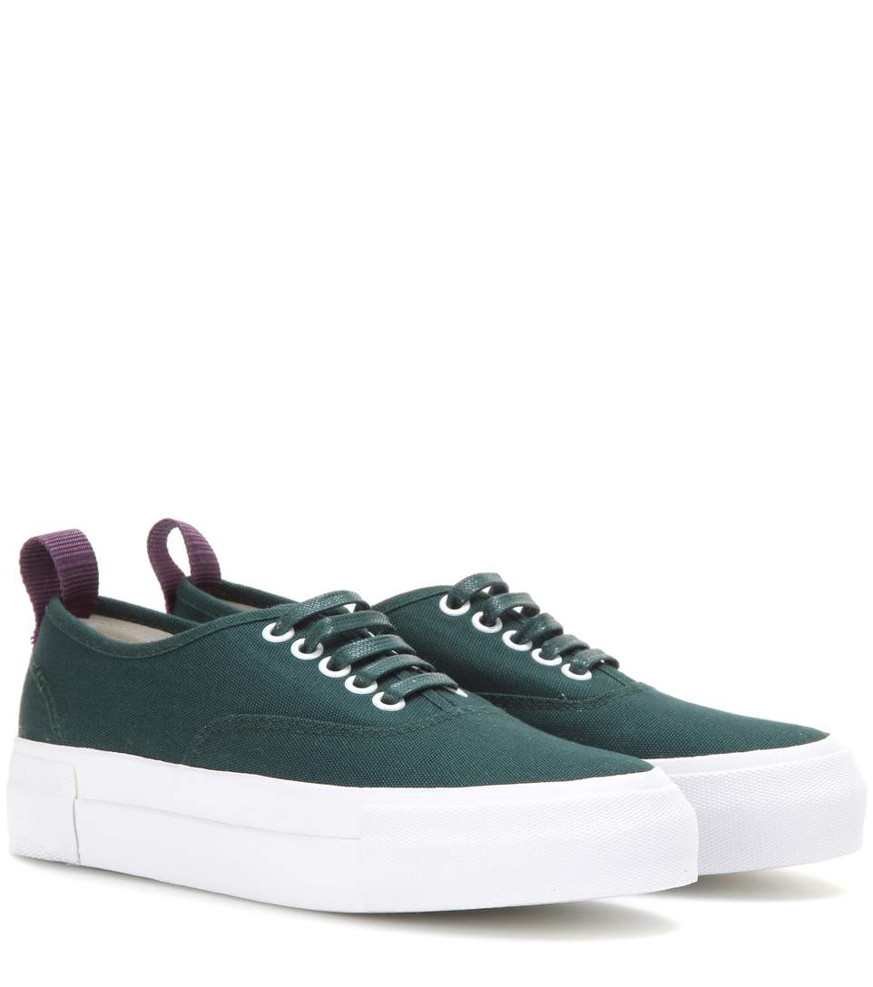 WOMAN MOTHER WOVEN PLATFORM SNEAKERS EMERALD