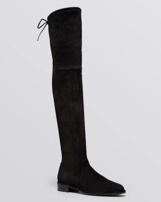 WOMEN'S LOWLAND STRETCH SUEDE OVER-THE-KNEE BOOTS