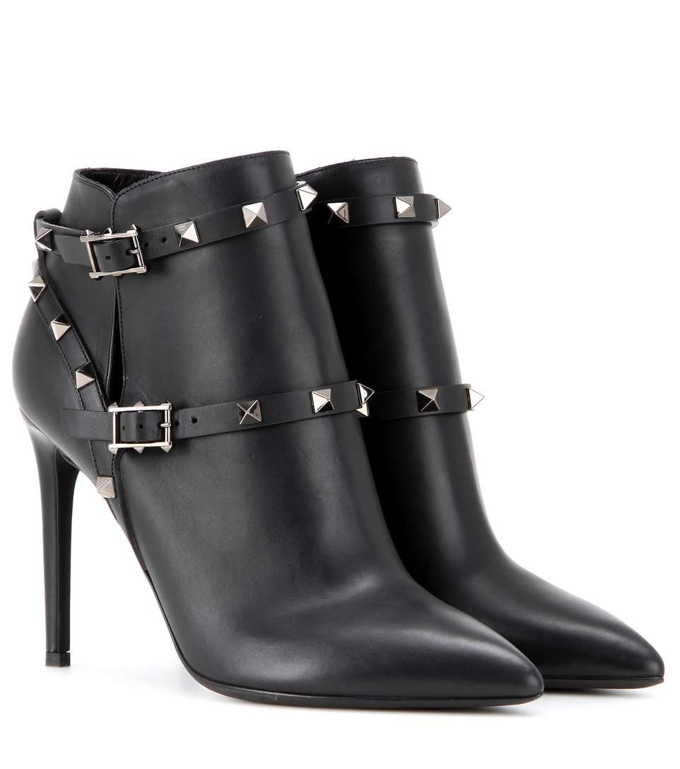 Kitten Heel Black Ankle Boots