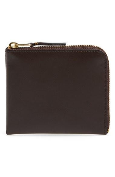 Comme Des Garçons Wallets Half-Zip Leather Wallet