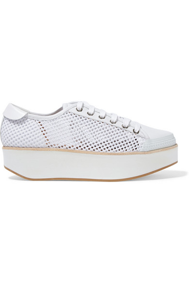 Tatum Leather And Mesh Sneakers