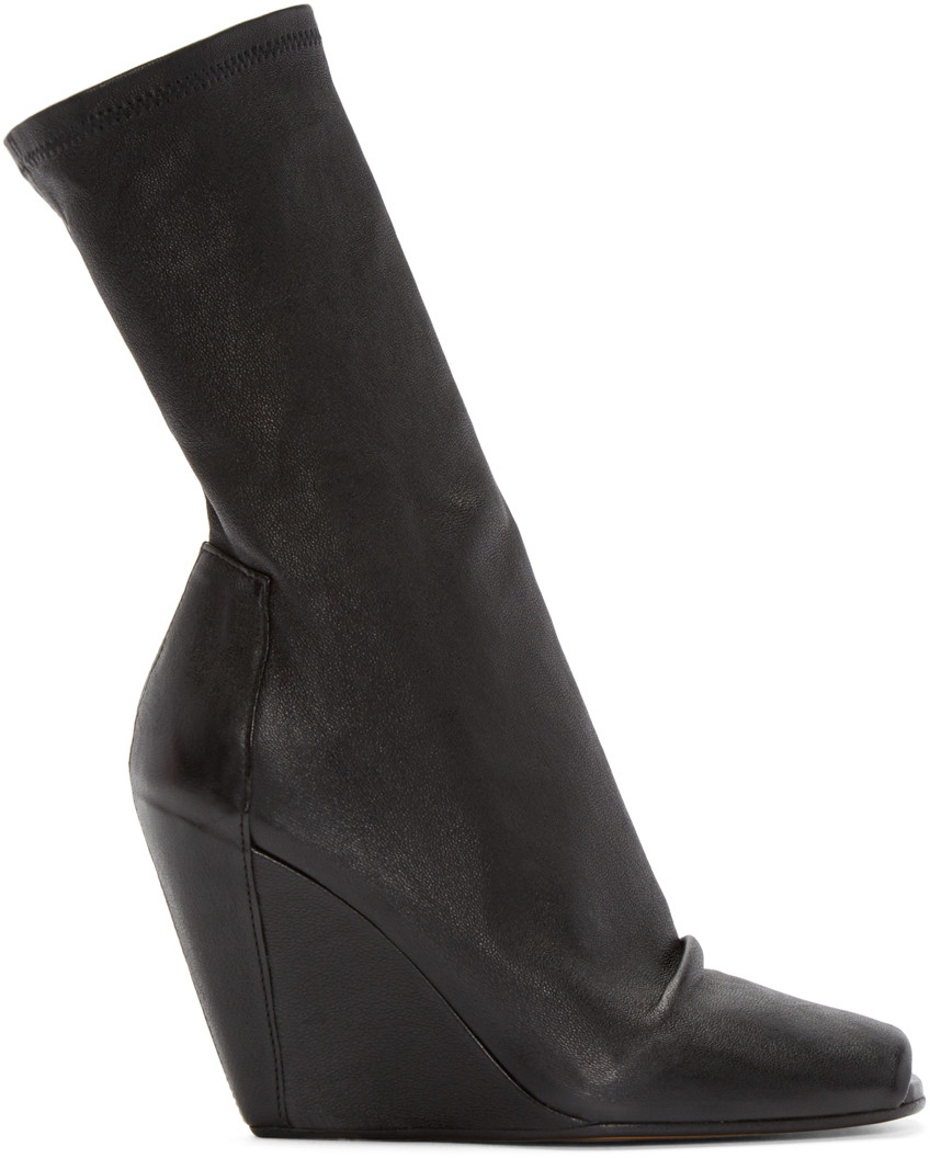 Peep-toe stretch-suede ankle boots