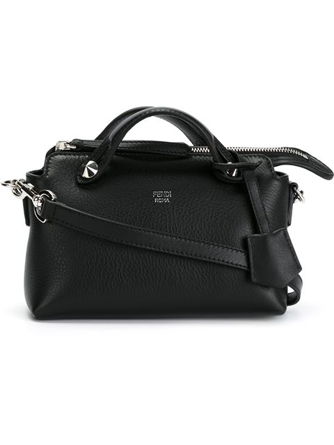'MINI BY THE WAY' CONVERTIBLE LEATHER CROSSBODY BAG - BLACK
