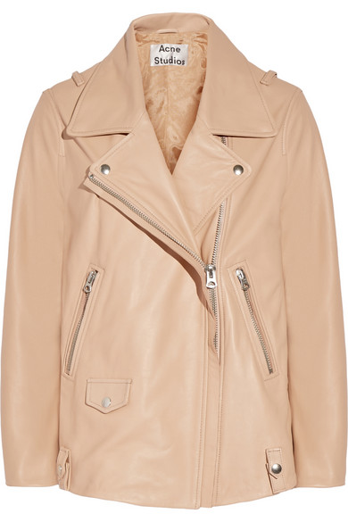Swift Oversized Leather Biker Jacket