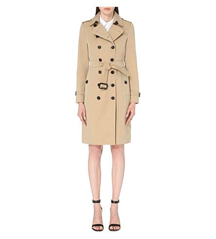 Sandringham double-breasted cotton-gabardine trench coat