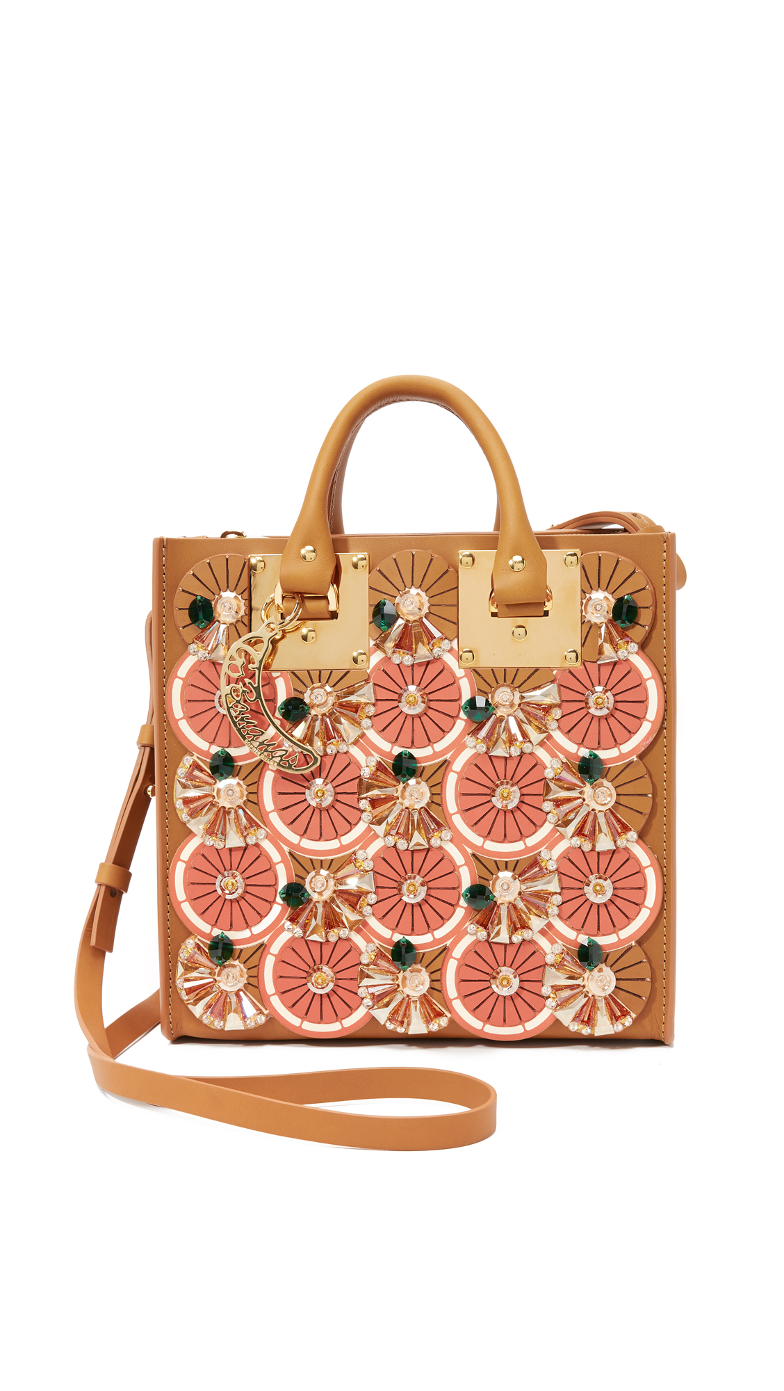 Embellished Square Tote