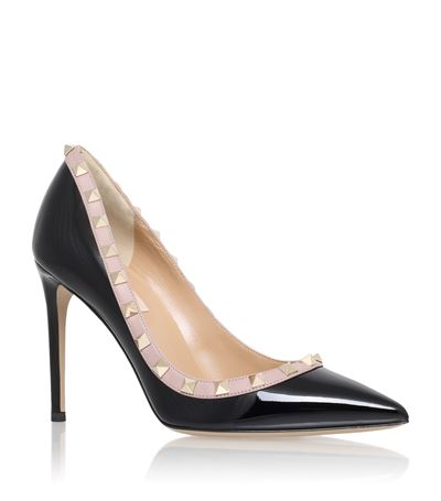 Rockstud 85 patent-leather courts