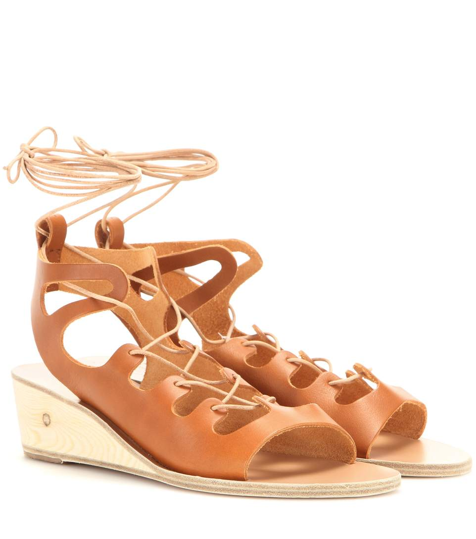 Antigone leather wedge sandals