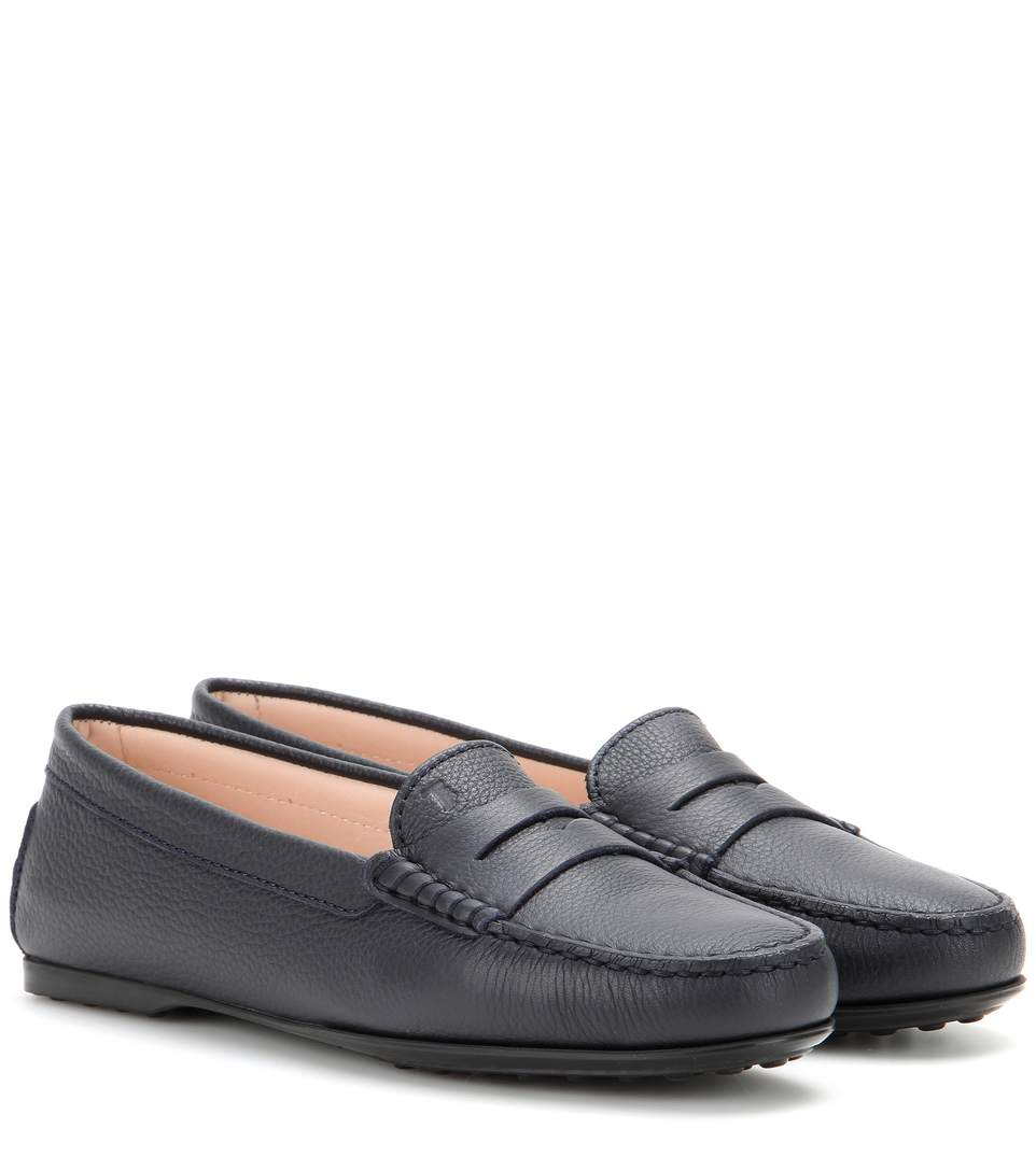 GOMMINI SMOOTH LEATHER MOCCASIN, BLACK