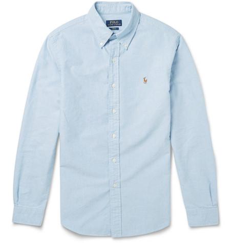 Polo Ralph Lauren Slim-Fit Button-Down Collar Cotton Oxford Shirt - Green In 9de1a5db2