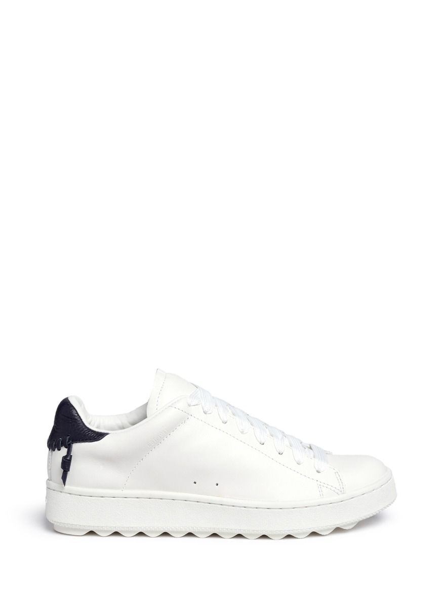'C101' Leather Low Top Sneakers