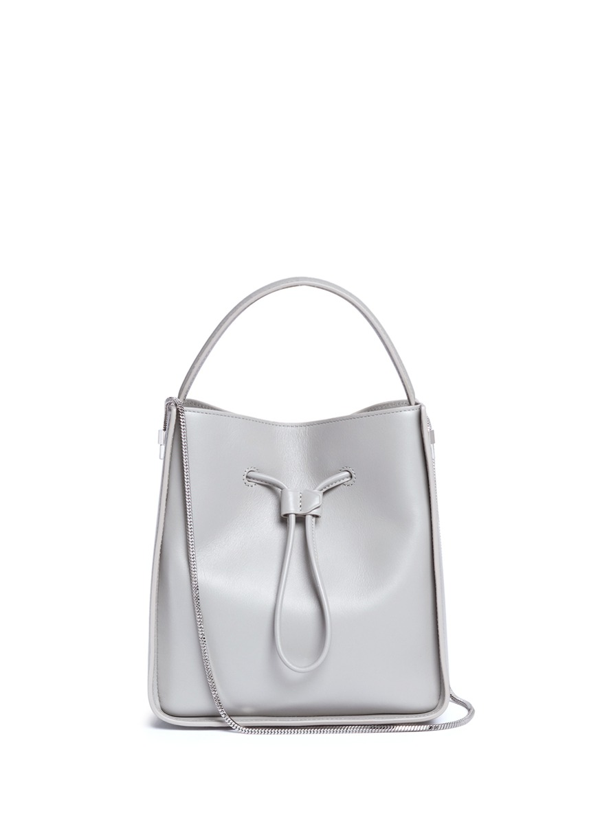 'Soleil' small leather drawstring bucket bag